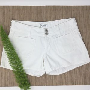 Old Navy Diva Cute Trendy White Denim Short (6)